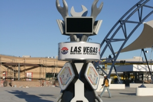 LVMS-A kiosk to help fans navigate the Neon Garage