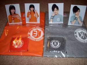 Kamei to Koharuchan t-shirt sets.