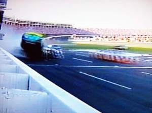 Gordon is sent airborne by the impact. Oohh blurrrrry!