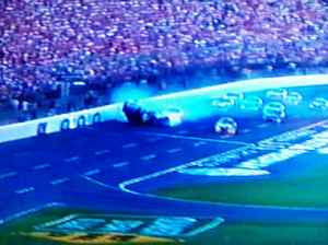 Gordon is hit into the outer wall.