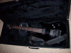 Ibanez Radius model w/ EMG pickups. (My favorite)