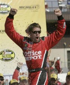 Carl Edwards wins at Michigan International Speedway!