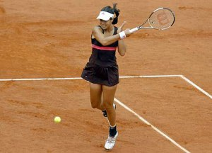 Ana Ivanovic today at the French Open.
