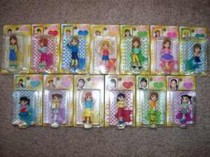 Morning Musume character mascot figures.