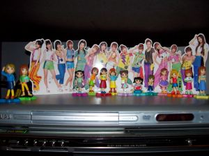 Morning Musume character mascot figures w/ stand up.