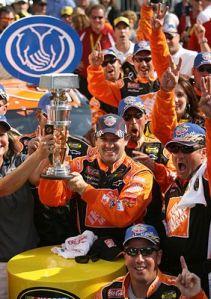 Tony Stewart wins his 2nd Brickyard 400 trophy!