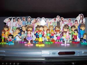 Morning Musume mini figures & character mascot figures.