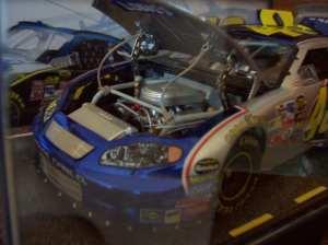 elite diecast model's engine compartment
