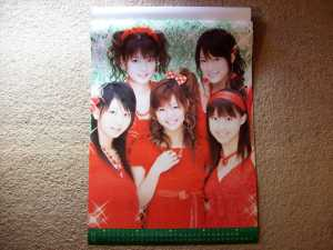 2008 Morning Musume calendar (November & December).