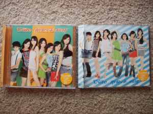 "Limited & regular editions of C-ute's single ""Tokaikko Junjou."""