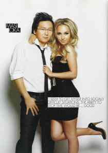 Hayden Panettiere & Masi Oka (FHM scan6)