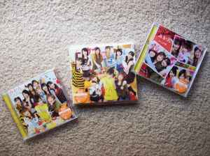 """Morning Musume's """"Mikan"""" single (type A, B, & regular editions)"""