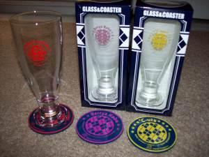H!P member glass & coaster sets