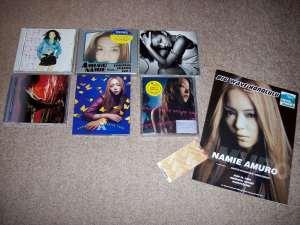 My Amuro Namie album collection w/ Hawaii concert program & ticket stub.