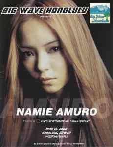 Amuro Namie concert program (scan)