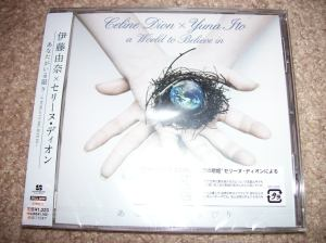 """Celine Dion & Yuna Ito """"A World to Believe in"""" CD single """""""""""