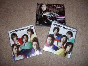"""Arashi """"Step and Go"""" (LE & RE) & Ito Yuna """"Wish"""" (LE)"""