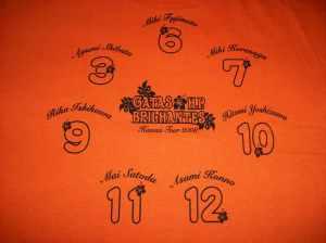 Ongaku Gatas in Hawaii fan club t-shirt (back)