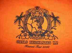 Ongaku Gatas in Hawaii fan club t-shirt (front logo)