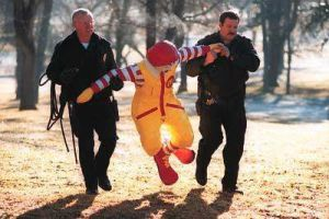 Ronald is taken in for questioning.