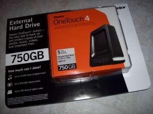 My new external hard drive...hopefully he's a friend of Vista.