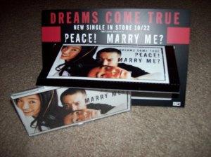 Dreams Come True CD single shelf display