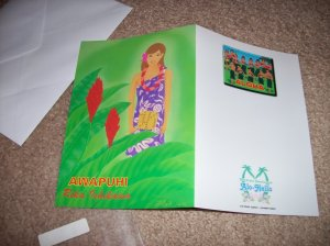 Ishikawa Rika (Hawaiian style greeting card)