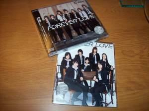 """C-ute """"FOREVER LOVE"""" LE & RE singles."""