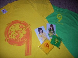 "Aichan & Gakisan ""Platinum 9"" T-shirt sets (front & back)"