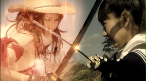 "Aya♥ vs. Saki in ""Onechanbara""..."
