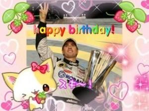 ~Happy Birthday Jimmie Johnson~! purikura!