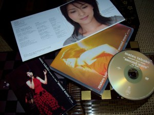 "Matsu Takako ""second wave"" on film DVD w/ ""Minna hitori CD single"