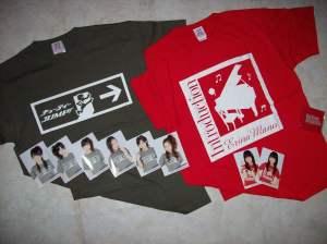 C-ute & Manoeri fall concert T-shirt sets...