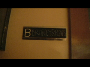 "..next to Britney Spear's room ""B""...=)"