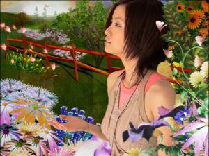 "Ueto Aya in ""Kaze""..."