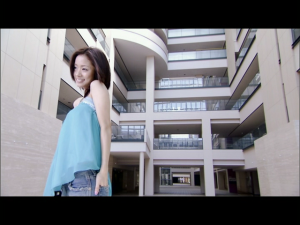 """Ueto Aya in """"Kaze wo ukete""""..."""