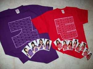 S/mileage & Momusu Winter concert T~shirt sets...