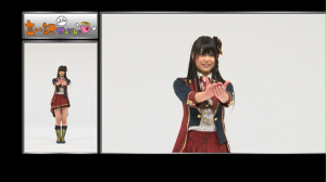 "edit: thank you~* so much Shar~*!! she's AKB48's Maeda Ami in ""Iiwake maybe"" (1nin version)..."