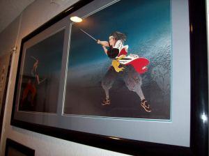 Our hallway art: Miyamoto Musashi vs. Sasaki Kojiro...so pretty~* ne!