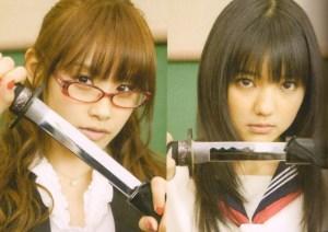 "Aichan♥ vs. Manoeri♥..""The Musashi tease~*""..."