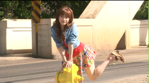 "Aichan in ""Katachi"" making of..."