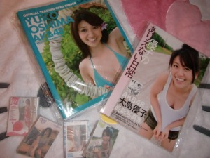 Oshima Yuko deluxe photo card binder, card sets and signed photo book♥