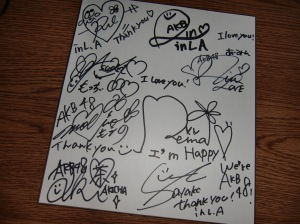 AKB48 autographs from AX 2010 in L.A. CIMG0523