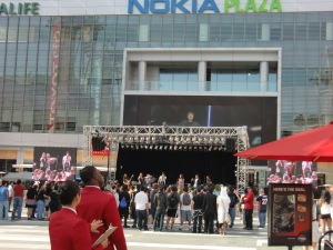 An outdoor concert @ Nokia Plaza CIMG0463