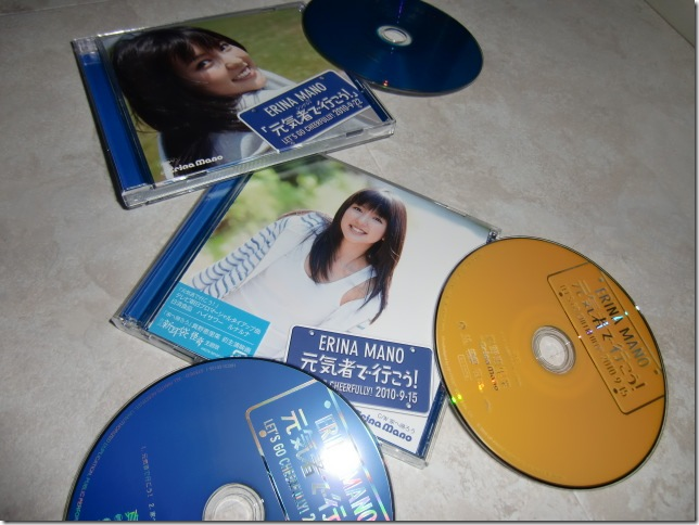 Mano Erina Genki mono de ikou! type A LE & pv DVD single releases