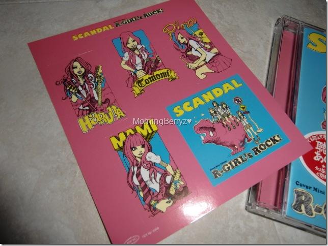 SCANDAL R~GIRL'S ROCK! sticker extra