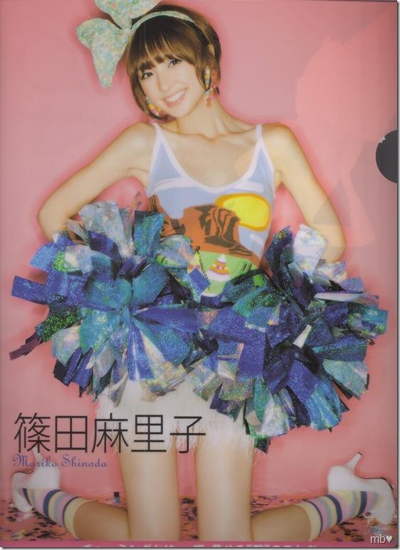 Shinoda Mariko 2011 calendar clear file (front)
