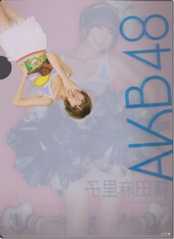 Shinoda Mariko 2011 calendar clear file (back)