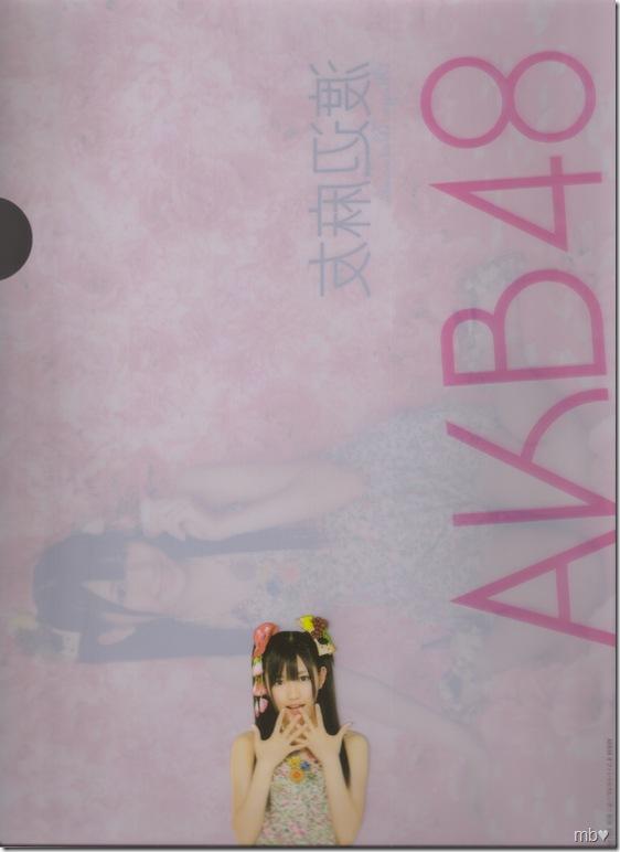 Watanabe Mayuyu 2011 calendar clear file (back)