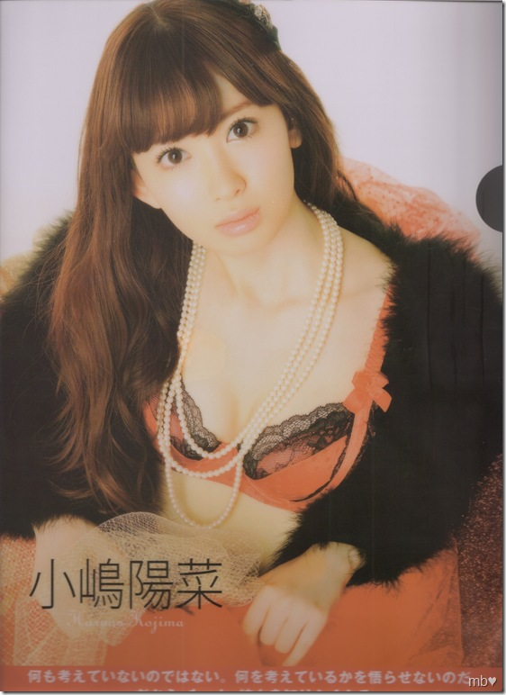 Kojima Haruna 2011 calendar clear file (front)